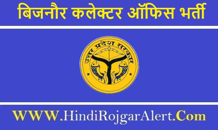 Collector Office Bijnor Recruitment 2020 बिजनौर कलेक्टर ऑफिस भर्ती 2020