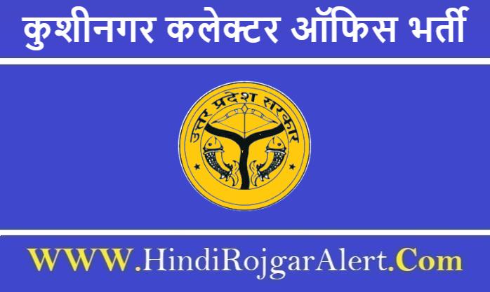 Collector Office Kushinagar Recruitment 2020 कुशीनगर   कलेक्टर ऑफिस भर्ती 2020