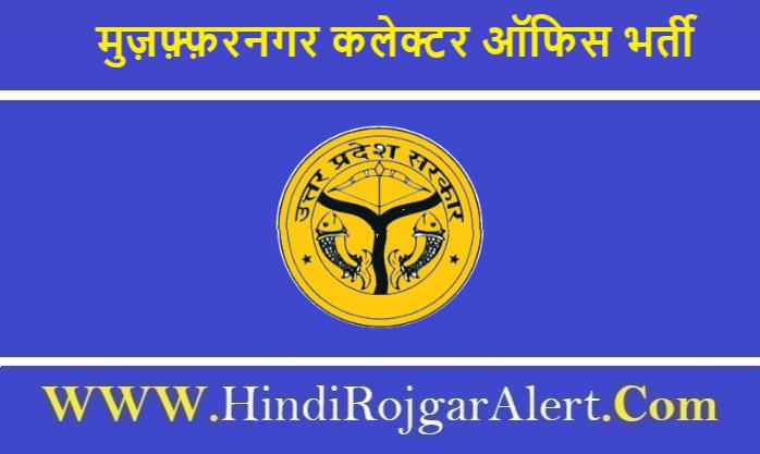 Collector Office Muzaffarnagar Recruitment 2020 मुज़फ़्फ़रनगर कलेक्टर ऑफिस भर्ती 2020
